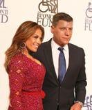 Verklig NJ-hemmafru Doloros Catania och Celeb Disher Tom Murro Royaltyfria Foton