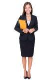 verklig plattform kvinna för medelaffärsgods arkivbilder