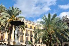 Verklig Plaza, Barcelona Arkivfoton
