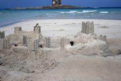 verklig sand för slott arkivbild