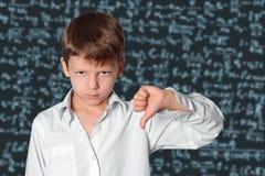 verklig schoolboy för blackboardklassrumkurs Royaltyfri Fotografi