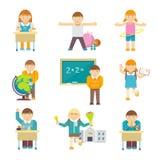 verklig skola för barnklassrumkurs vektor illustrationer