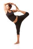 Verklig yogainstruktör Arkivbild