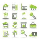 verkliga byggnadsgodssymboler vektor illustrationer