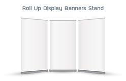 Verkliga 3d rullar upp skärmbanerställningen Royaltyfria Foton