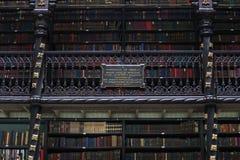Verkliga Gabinete Português de Leitura Arkiv Rio de Janeiro Royaltyfria Foton