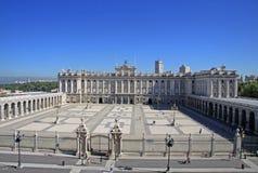 Verkliga Palacio - Royal Palace i Madrid Arkivfoto