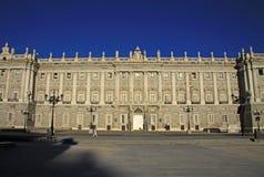 Verkliga Palacio - Royal Palace i Madrid, Spanien Arkivbilder