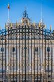 Verkliga Palacio - spansk kunglig slott i Madrid Royaltyfria Foton