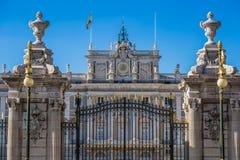 Verkliga Palacio - spansk kunglig slott i Madrid Arkivfoton