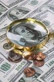 verkliga pengar Royaltyfria Bilder