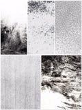 Verkliga svartvita texturer Arkivbild