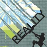 Verklighet och den digitala världen royaltyfri illustrationer
