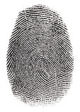 Verkligt fingeravtryck Arkivbild