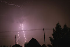verkligt foto för natt för blixt för datordiagram inte Arkivbild
