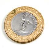 verkligt mynt ett Arkivbild