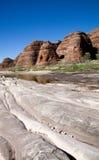 Verknoei verknoeit rivierbed Stock Foto