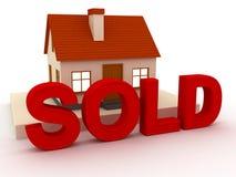 Verkocht huis Royalty-vrije Stock Foto