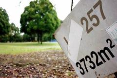Verkocht land Royalty-vrije Stock Foto