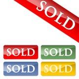 Verkochte pictogrammen Royalty-vrije Stock Afbeelding