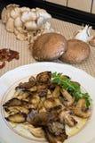 Verkohlte Pilze Stockfotos