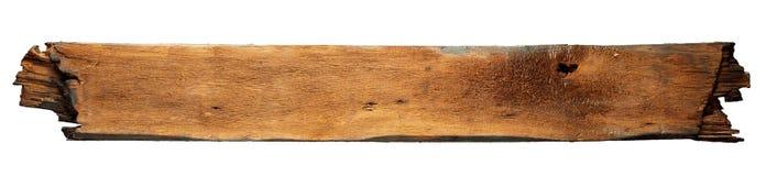 Verkoolde houten raad Stock Foto