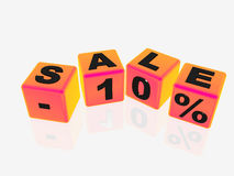Verkoop -10% Royalty-vrije Stock Foto's