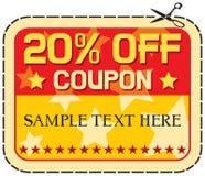 Verkoop 20% van de coupon Stock Afbeelding