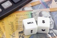 Verkoop Australische dollar Royalty-vrije Stock Foto's