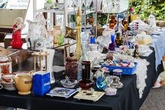 Verkoop bij de Markthal in Montreux Royalty-vrije Stock Fotografie