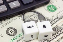 Verkoop de dollar van de V.S. Stock Afbeeldingen