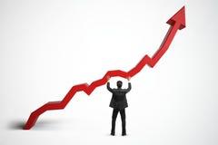 Verkoop, de groei, inkomens en financiënconcept Stock Afbeelding