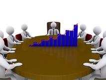 Verkoop die onder zakenlieden samenkomen stock illustratie