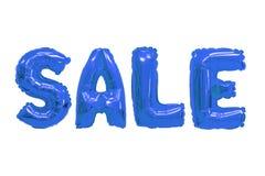 Verkoop donkerblauwe kleur royalty-vrije stock foto