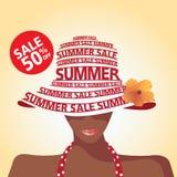 Verkoop en Manier en de zomer Royalty-vrije Stock Foto