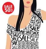 Verkoop en Manier en het winkelen Stock Afbeeldingen