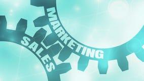 Verkoop en Marketing tekst op de Toestellen stock illustratie