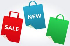 Verkoop en Nieuwe tekens Stock Afbeelding
