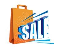 Verkoop en zak Stock Afbeelding