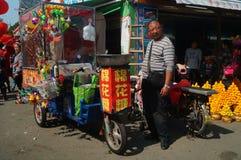 Verkoop gesponnen suikerboxen Stock Foto's