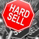 Verkoop hard concept. Stock Afbeelding