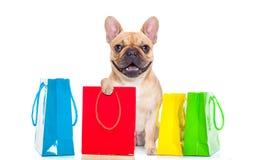 Verkoop het winkelen hond royalty-vrije stock foto