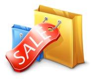 Verkoop, het Winkelen Zak Stock Foto
