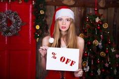 Verkoop, Kerstmis, vakantie en mensenconcept - stock afbeeldingen