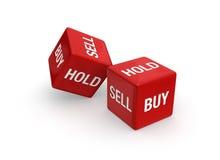 Verkoop koop of? Stock Foto