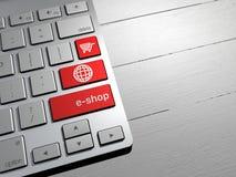 Verkoop, online winkelend, het winkelen aanbiedingen De knopen van het computertoetsenbord Royalty-vrije Stock Afbeeldingen