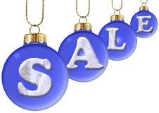 Verkoop op de bal van het blauwe nieuwe jaar Royalty-vrije Stock Foto's