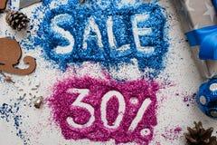 Verkoop op Kerstmis en Nieuwjaarvakantie Stock Afbeelding