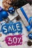 Verkoop op Kerstmis en Nieuwjaarvakantie Royalty-vrije Stock Afbeeldingen