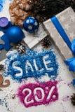 Verkoop op Kerstmis en Nieuwjaarvakantie Royalty-vrije Stock Foto